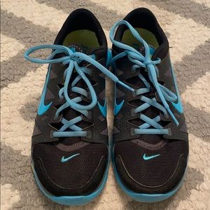 Nike training blue and grey sneakers